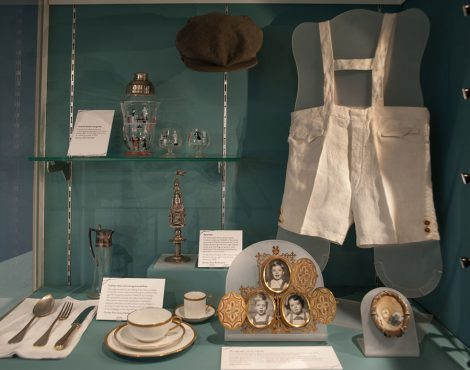 One of the display cases in the Holocaust Exhibition and Learning Centre. (c) HSFA.