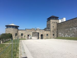 Mauthausen concentration camp gate