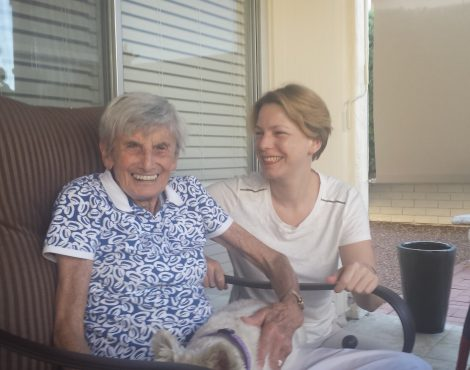 Anna Hajkova pictured with a lesbian Holocaust survivor