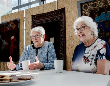 Survivors Trude Silman and Leisel Carter in conversation