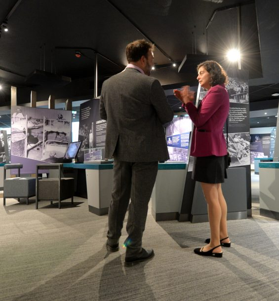 Holocaust Exhibition at the launch event